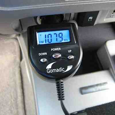 FM Transmitter with Integrated Car Charger