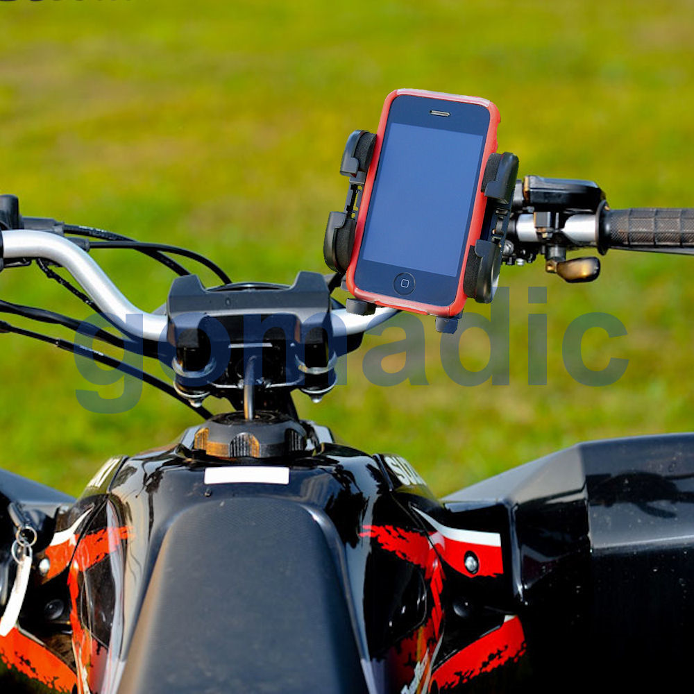 Gomadic Bike Handlebar Holder Mount System suitable for the Magellan Roadmate 800 - Unique Holder; Lifetime Warranty