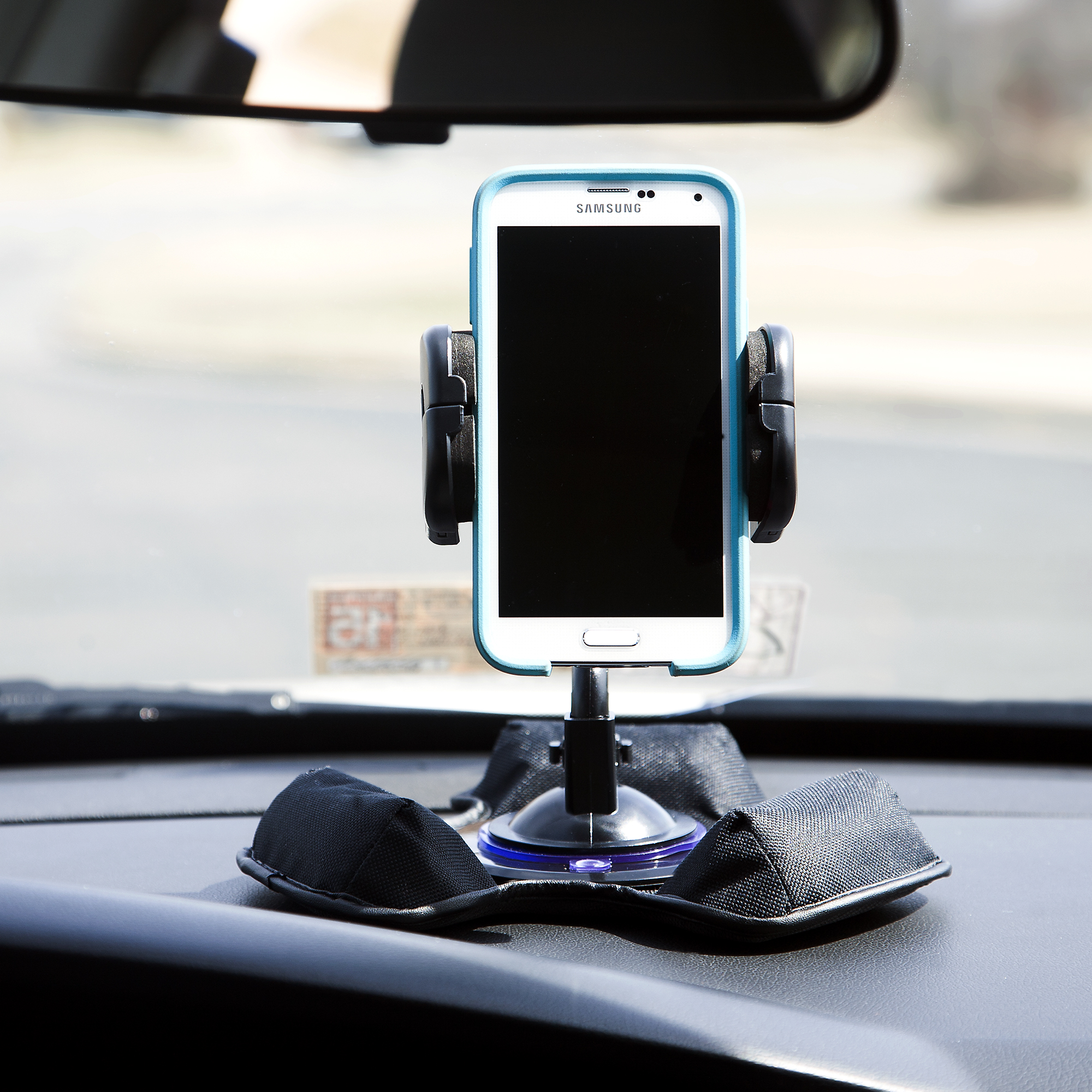 Car / Truck Vehicle Holder Mounting System for Sandisk Sansa c100 Includes Unique Flexible Windshield Suction and Universal Dashboard Mount Options