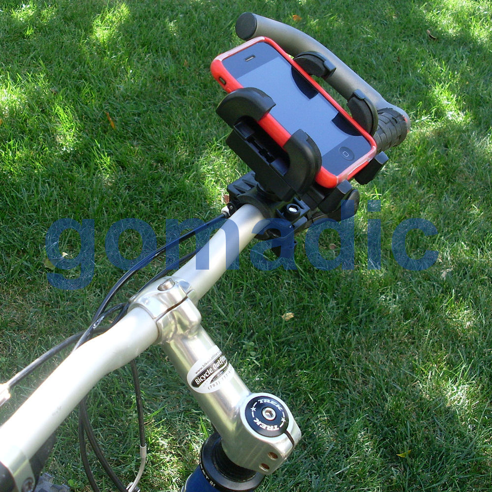 Gomadic Bike Handlebar Holder Mount System suitable for the Sprint PPC-6800 - Unique Holder; Lifetime Warranty