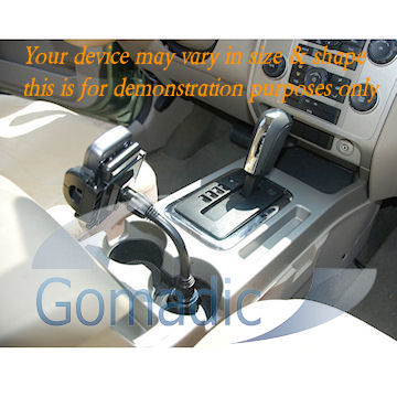 Gomadic Brand Car Auto Cup Holder Mount suitable for the LG Scoop - Attaches to your vehicle cupholder