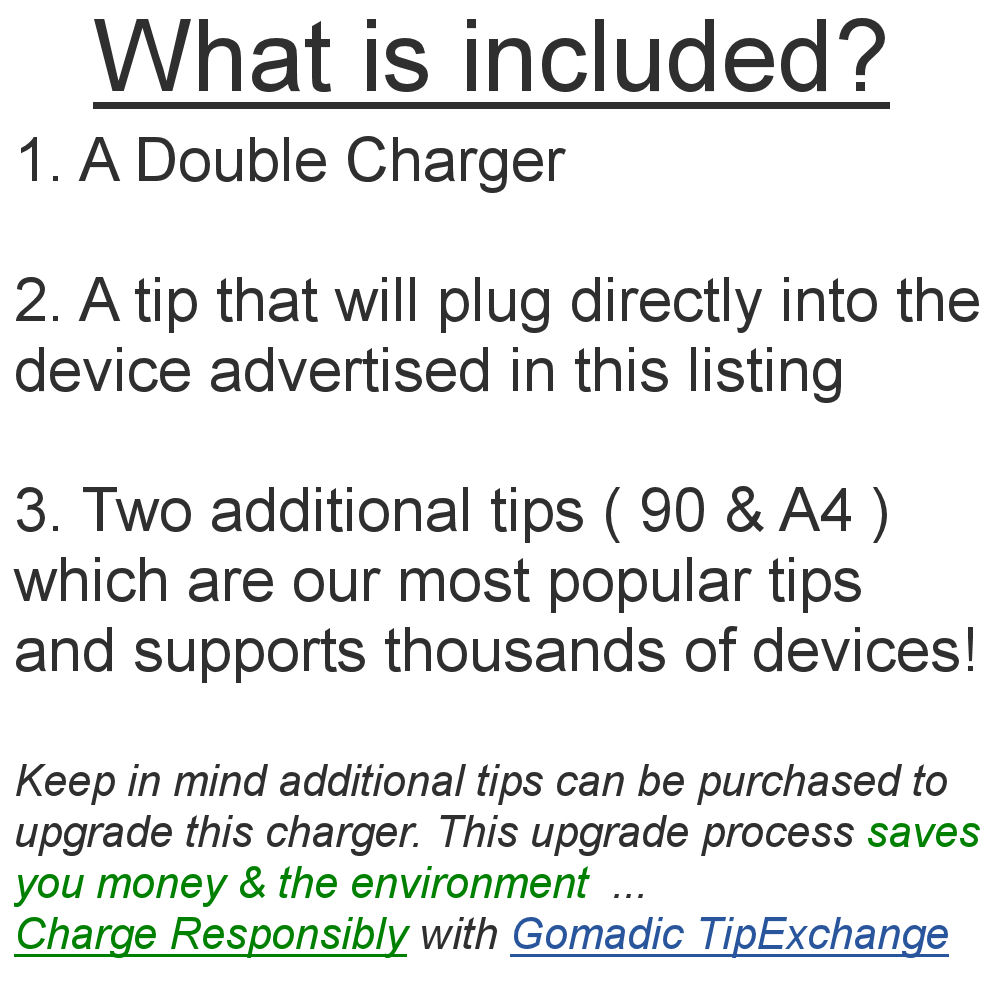 Gomadic Double Wall AC Home Charger suitable for the HTC HD2 - Charge up to 2 devices at the same time with TipExchange Technology
