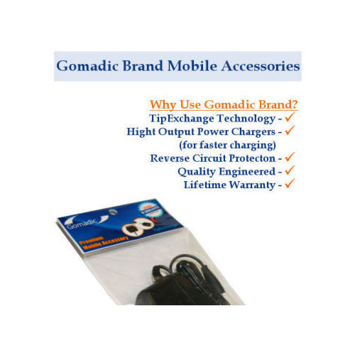 Gomadic Car and Wall Charger Essential Kit suitable for the Sony Nav-U NV-U52 - Includes both AC Wall and DC Car Charging Options with TipExchange