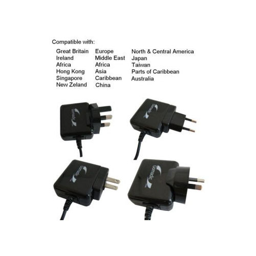 International AC Home Wall Charger suitable for the iRiver E300 - 10W Charge supports wall outlets and voltages worldwide - Uses Gomadic Brand TipExchange