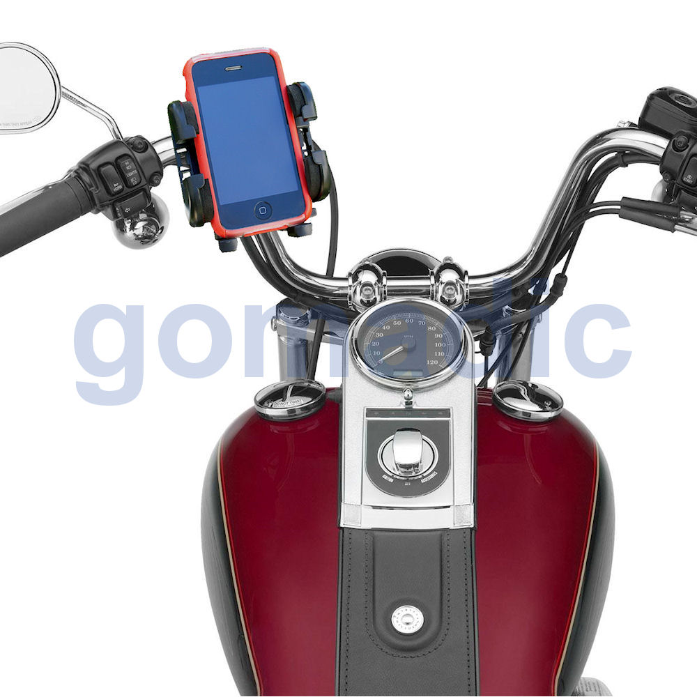 Gomadic Bike Handlebar Holder Mount System suitable for the Sandisk Sansa c240 - Unique Holder; Lifetime Warranty