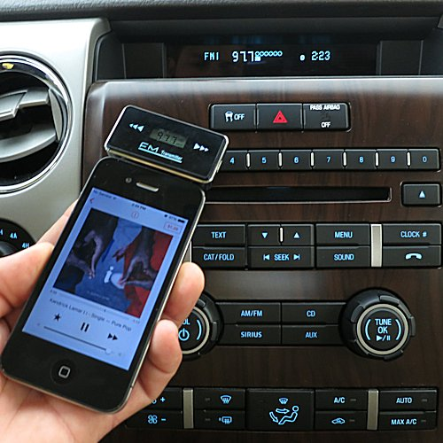 3rd Generation Powerful Audio FM Transmitter with Car Charger suitable for the Blackberry Bold 9650 - Uses Gomadic TipExchange Technology
