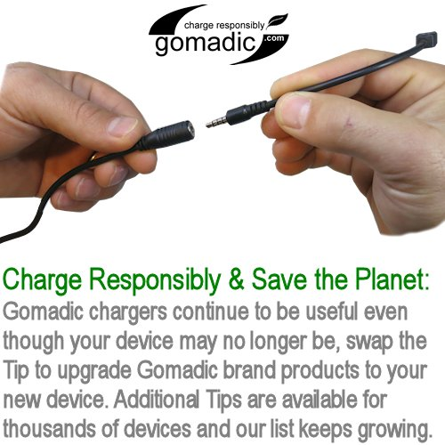 Gomadic Double Wall AC Home Charger suitable for the Memorex MMP8620 MMP8640 - Charge up to 2 devices at the same time with TipExchange Technology