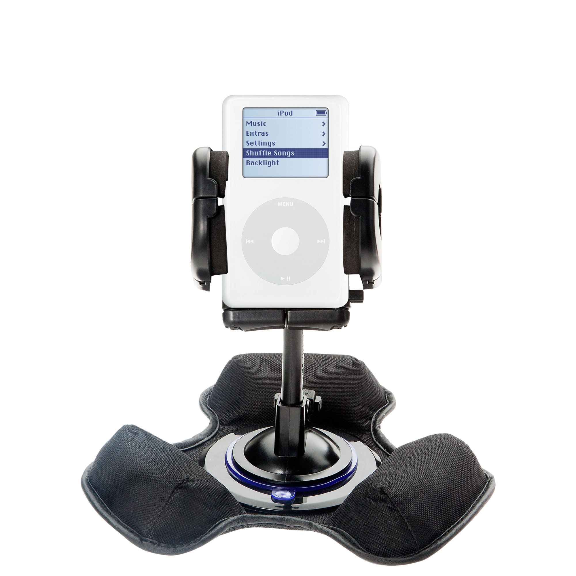 Car / Truck Vehicle Holder Mounting System for Apple iPod 4G (20GB) Includes Unique Flexible Windshield Suction and Universal Dashboard Mount Options
