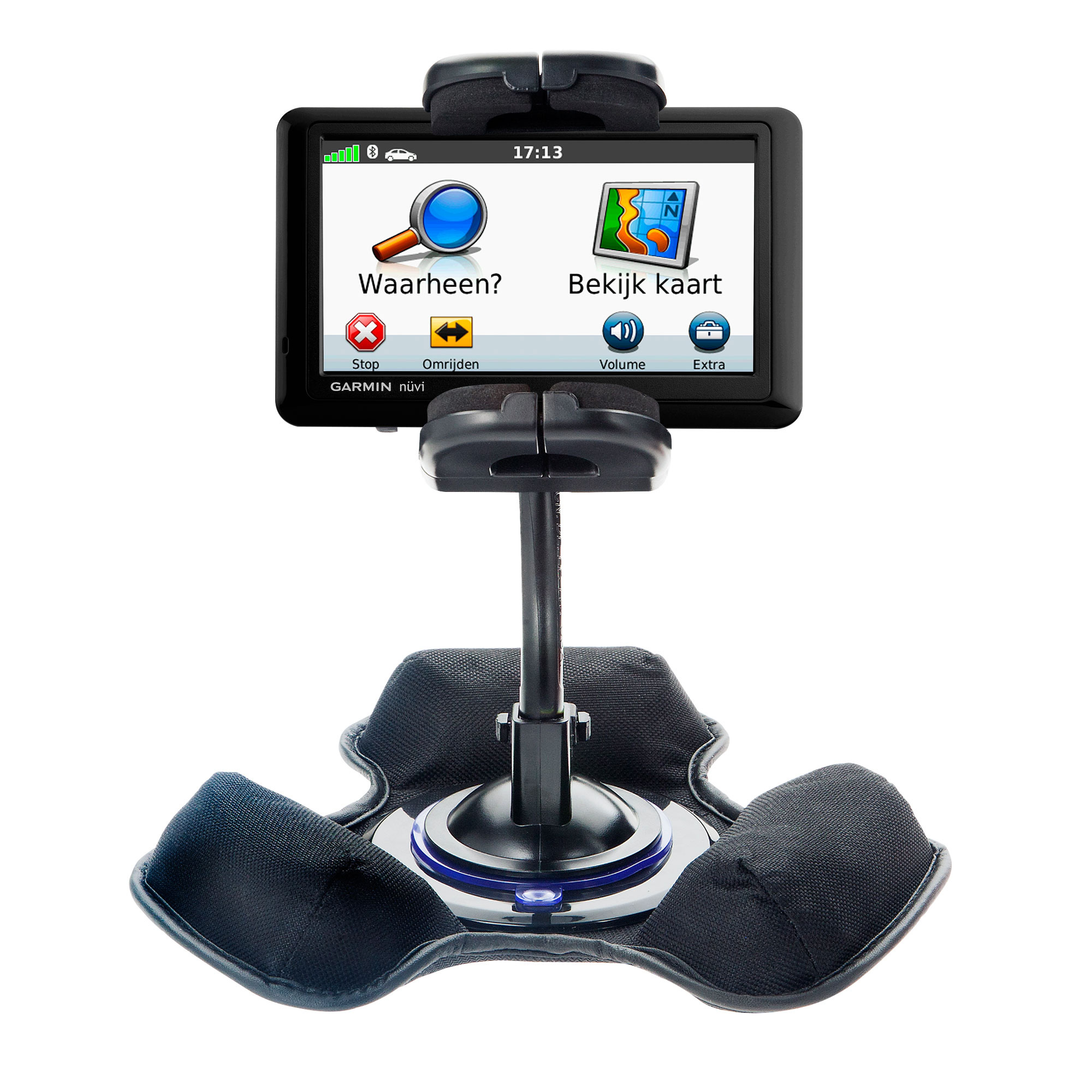 Car / Truck Vehicle Holder Mounting System for Garmin nuvi 1490LMT 1490T Includes Unique Flexible Windshield Suction and Universal Dashboard Mount Options