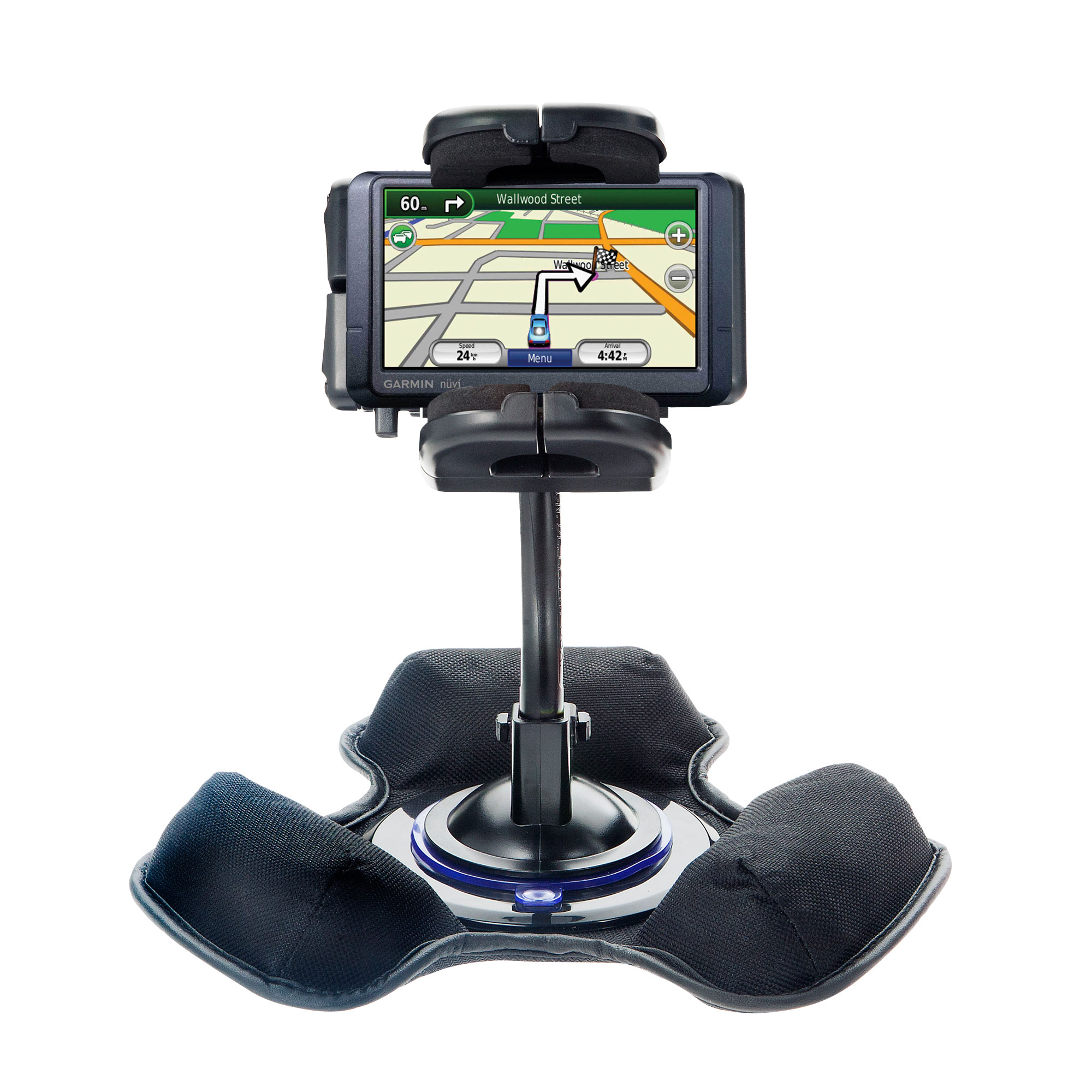 Car / Truck Vehicle Holder Mounting System for Garmin Nuvi 255 Includes Unique Flexible Windshield Suction and Universal Dashboard Mount Options