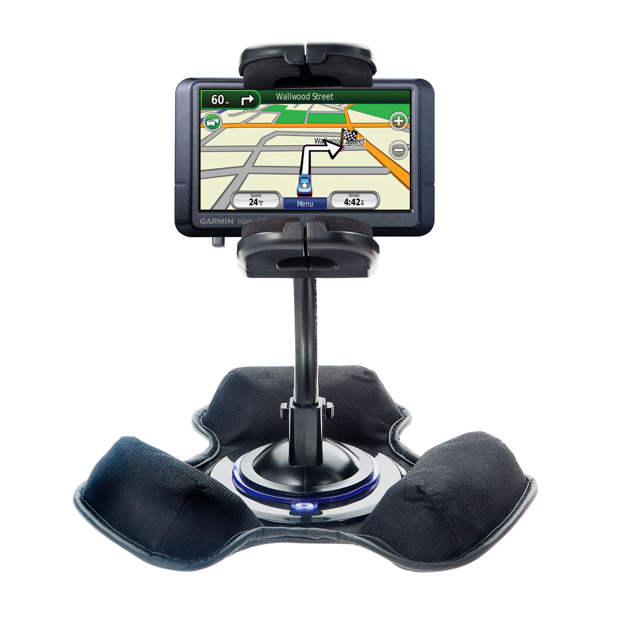 Car / Truck Vehicle Holder Mounting System for Garmin Nuvi 255W 255WT 255 Includes Unique Flexible Windshield Suction and Universal Dashboard Mount Options