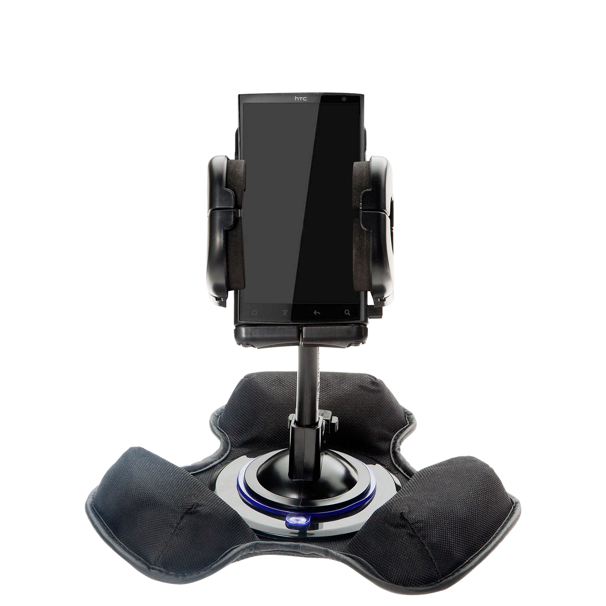 Car / Truck Vehicle Holder Mounting System for HTC Zeta Includes Unique Flexible Windshield Suction and Universal Dashboard Mount Options
