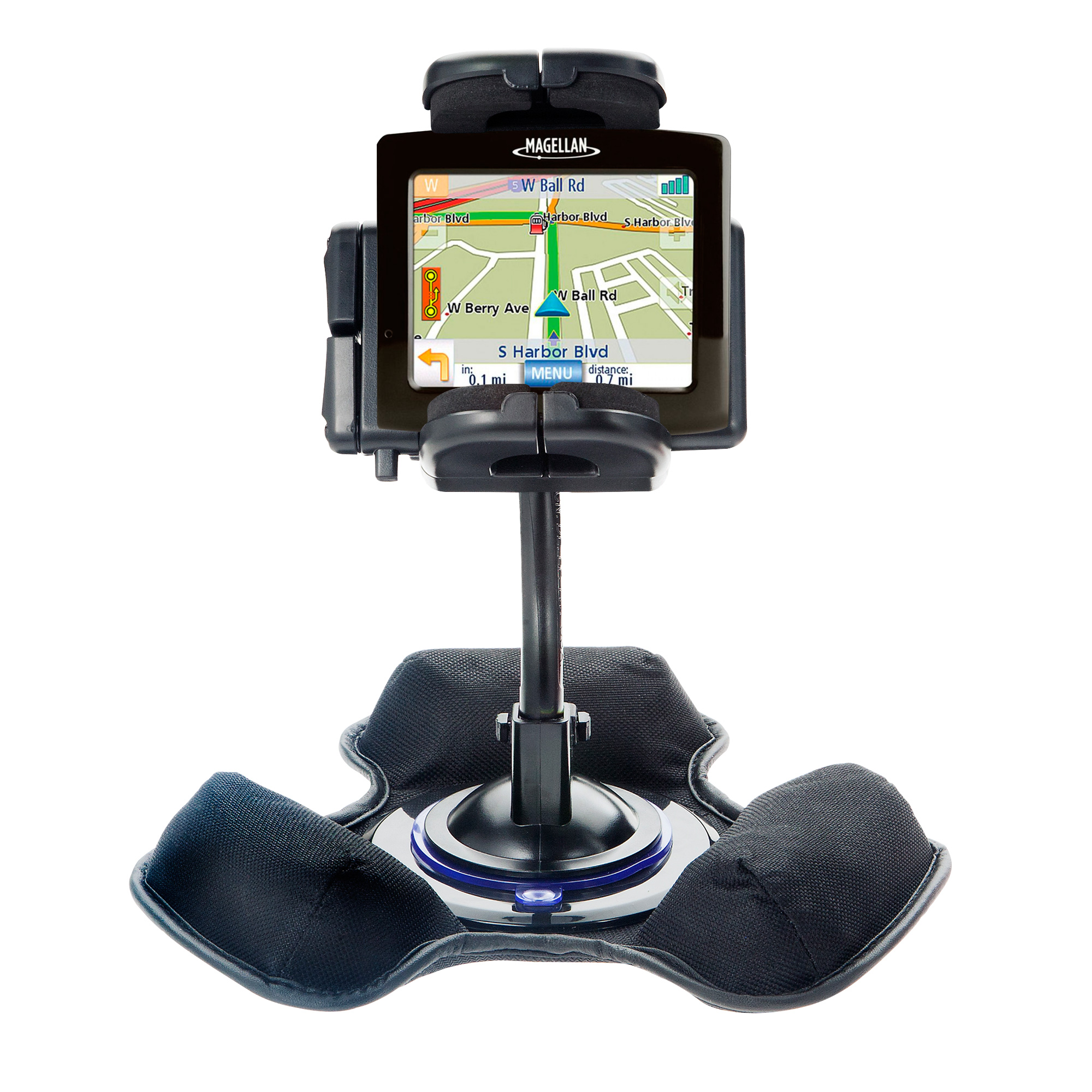 Car / Truck Vehicle Holder Mounting System for Magellan Maestro 3200 Includes Unique Flexible Windshield Suction and Universal Dashboard Mount Options