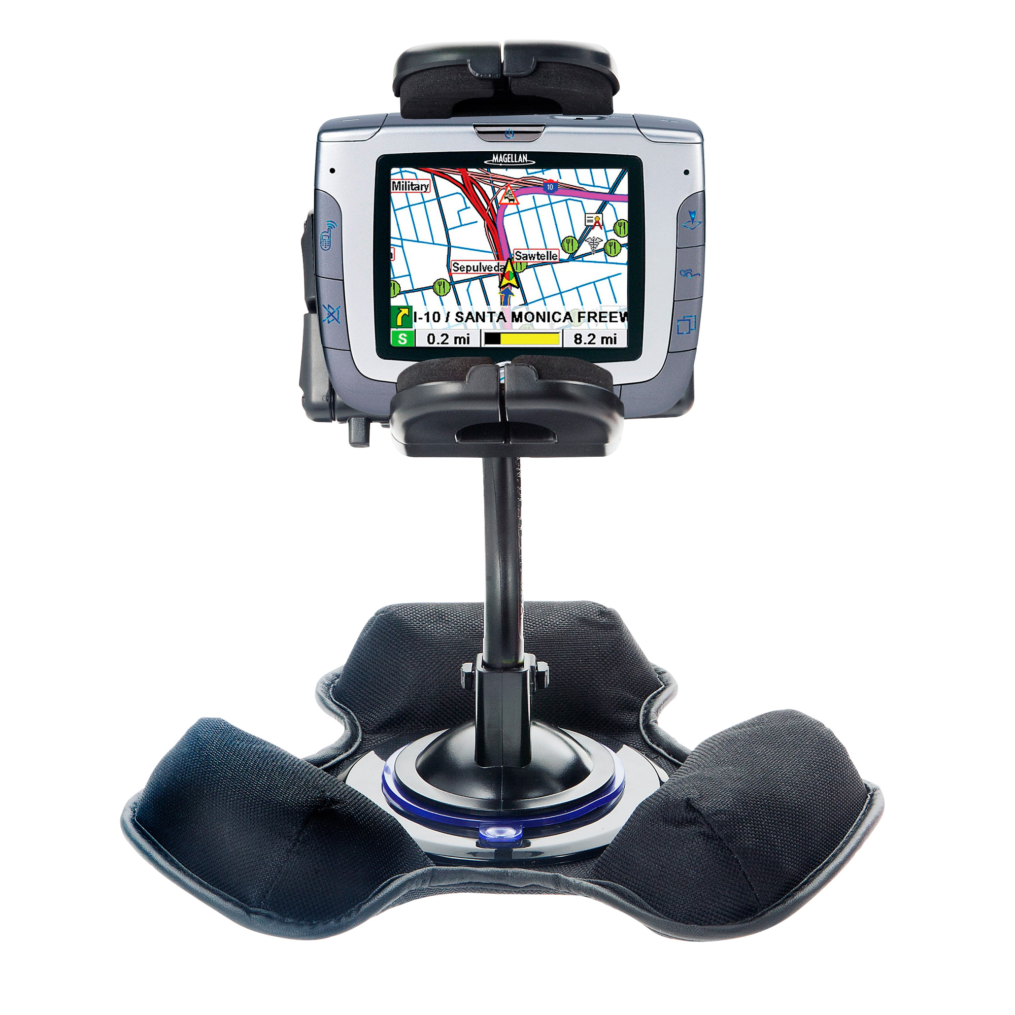Car / Truck Vehicle Holder Mounting System for Magellan Roadmate 3000T Includes Unique Flexible Windshield Suction and Universal Dashboard Mount Options