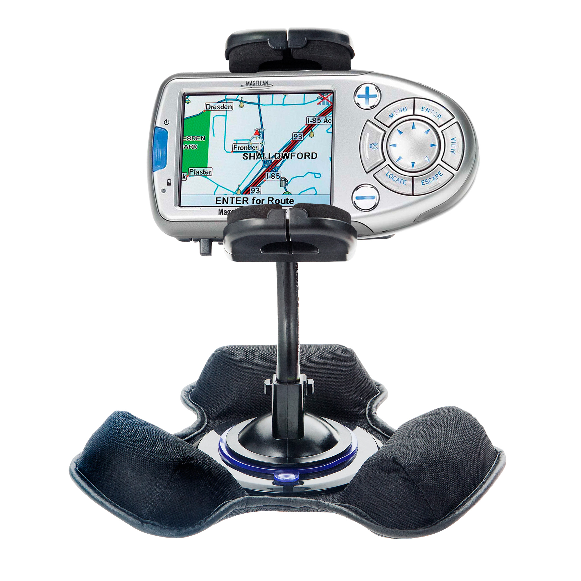 Car / Truck Vehicle Holder Mounting System for Magellan Roadmate 800 Includes Unique Flexible Windshield Suction and Universal Dashboard Mount Options