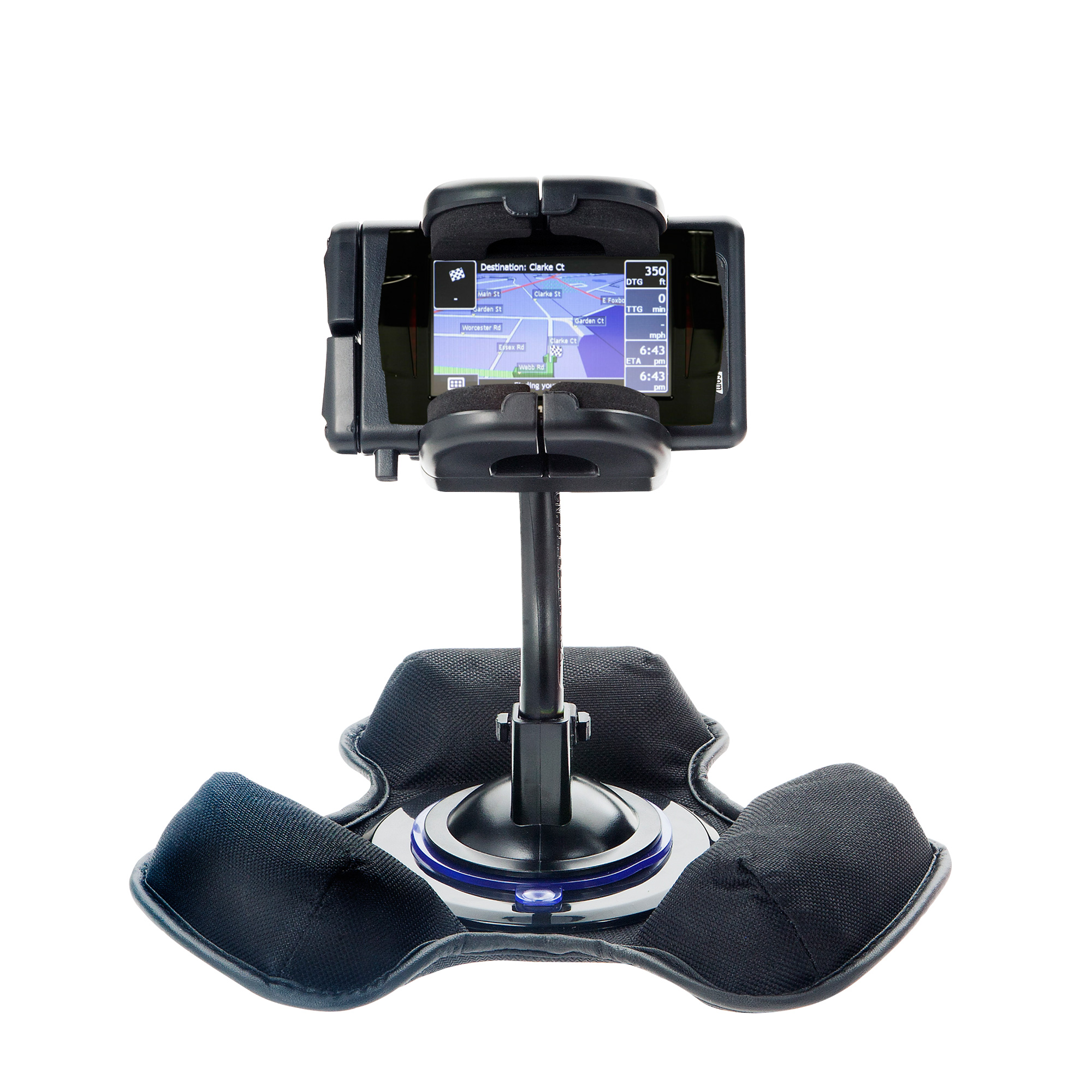Car / Truck Vehicle Holder Mounting System for Mio Knight Rider Includes Unique Flexible Windshield Suction and Universal Dashboard Mount Options