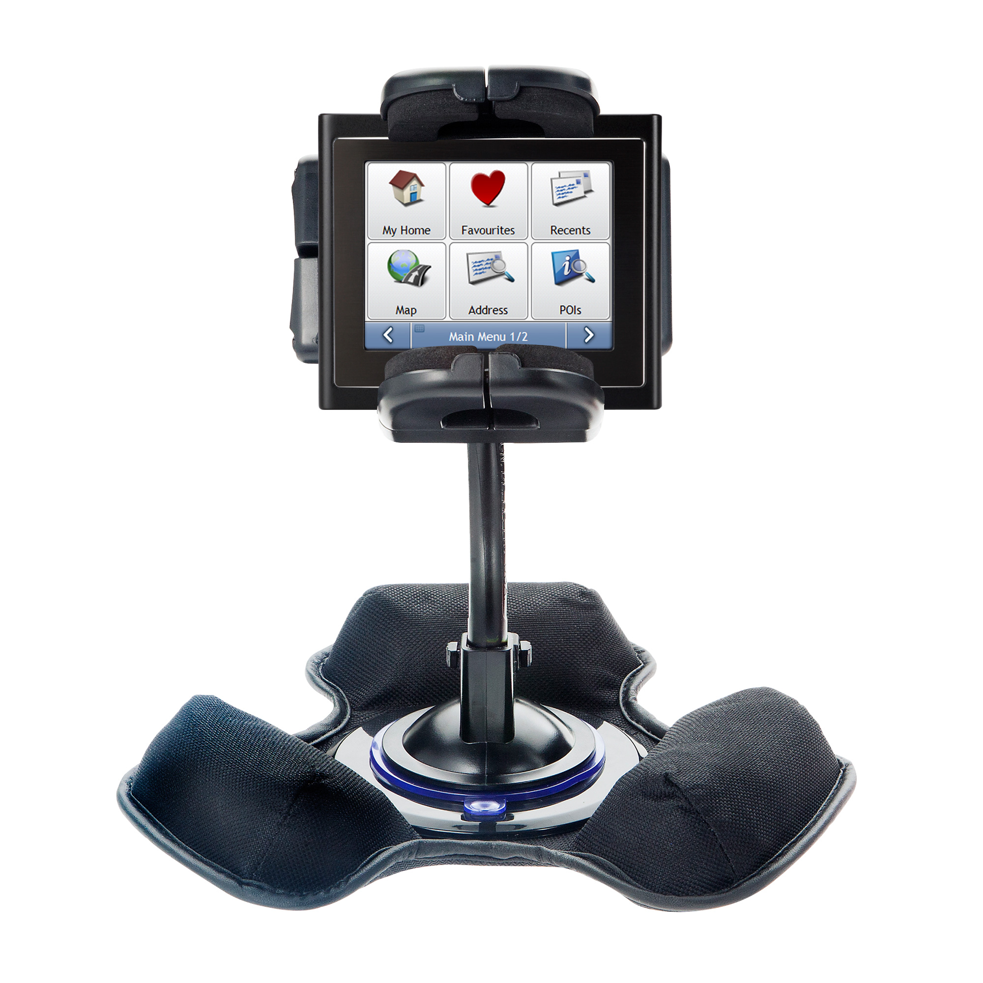 Car / Truck Vehicle Holder Mounting System for Mio Moov 200 210 Includes Unique Flexible Windshield Suction and Universal Dashboard Mount Options