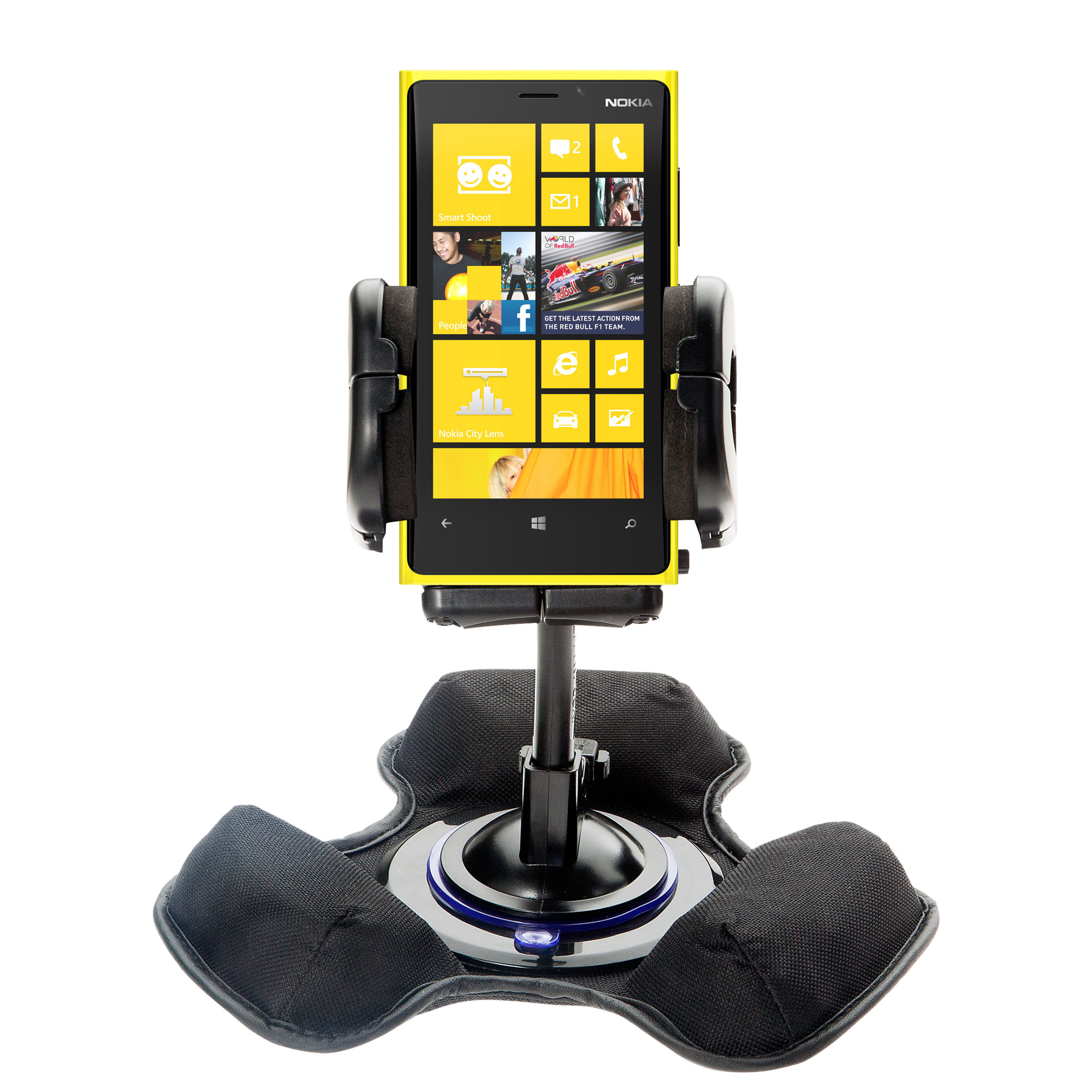 Car / Truck Vehicle Holder Mounting System for Nokia Lumia 920 Includes Unique Flexible Windshield Suction and Universal Dashboard Mount Options