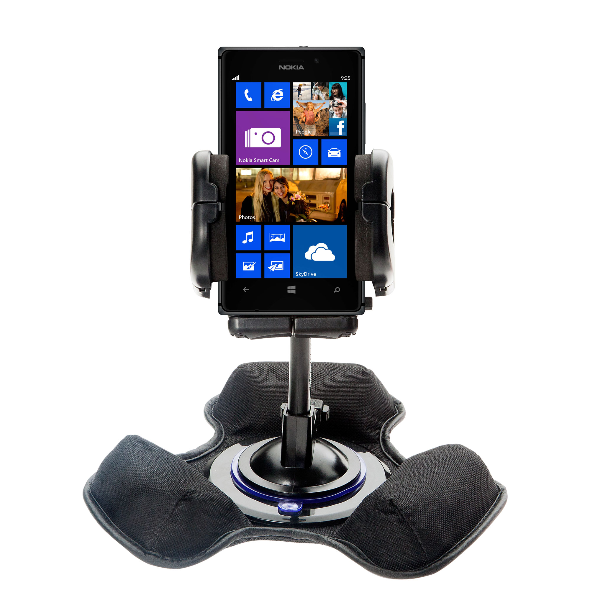 Car / Truck Vehicle Holder Mounting System for Nokia Lumia 925 Includes Unique Flexible Windshield Suction and Universal Dashboard Mount Options