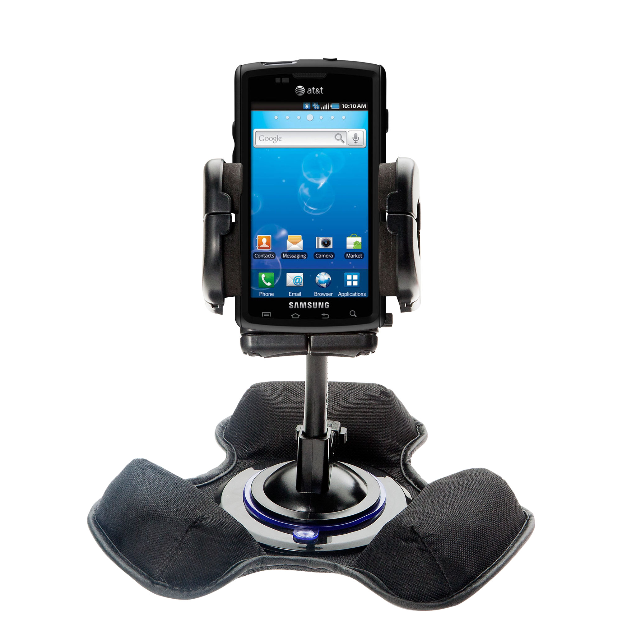Car / Truck Vehicle Holder Mounting System for Samsung Captivate Includes Unique Flexible Windshield Suction and Universal Dashboard Mount Options
