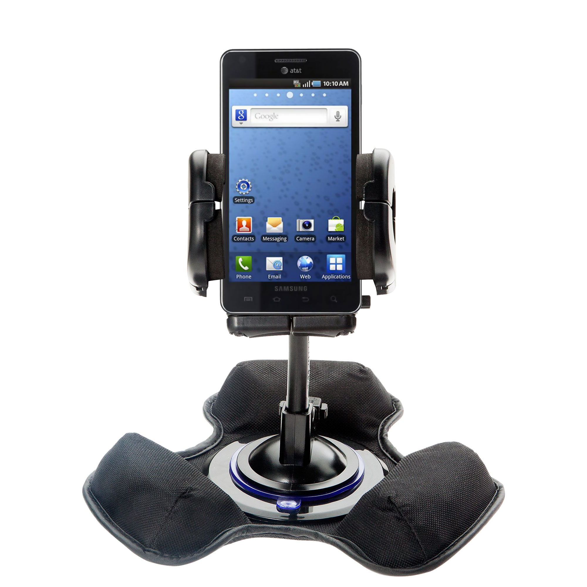 Car / Truck Vehicle Holder Mounting System for Samsung Infuse 4G Includes Unique Flexible Windshield Suction and Universal Dashboard Mount Options