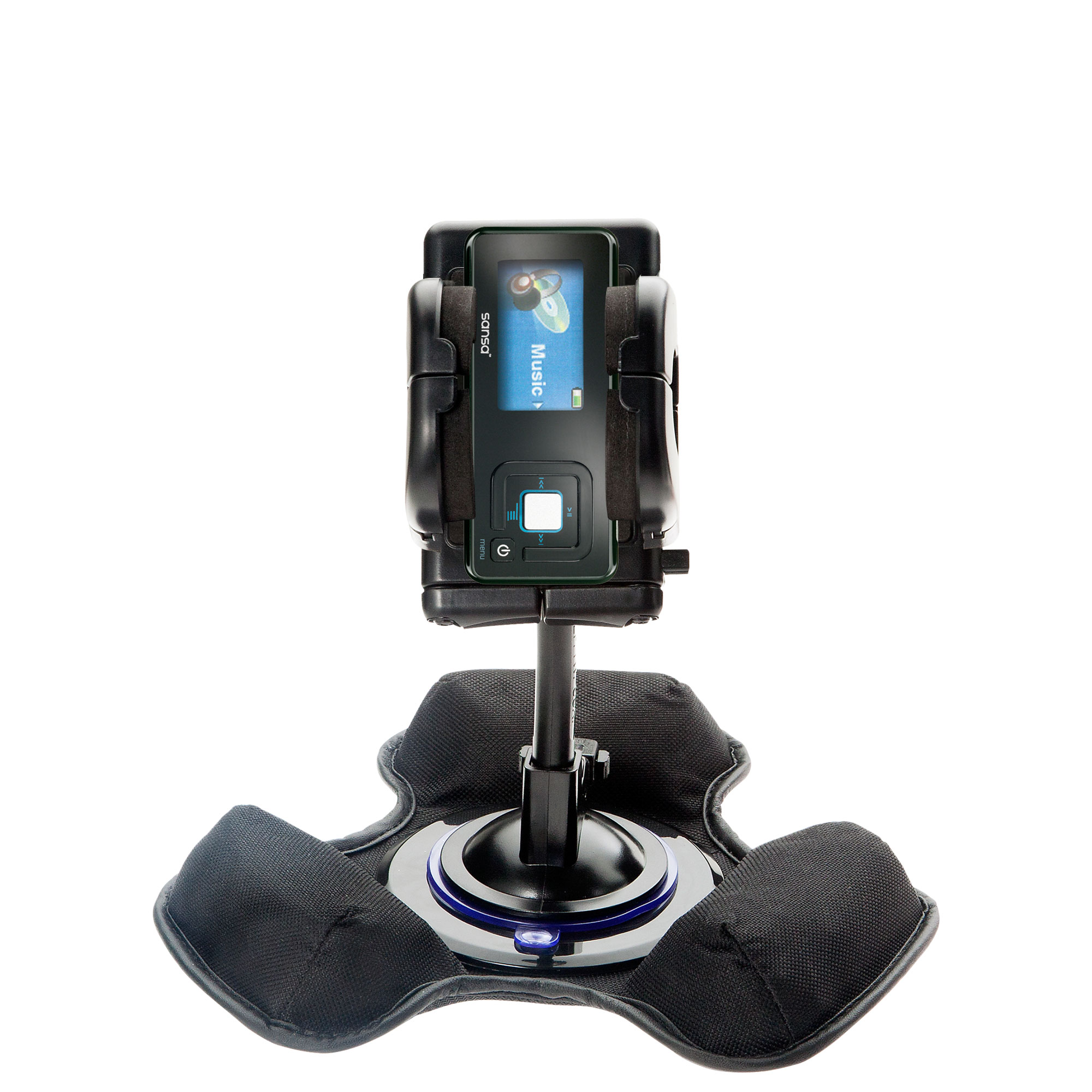 Car / Truck Vehicle Holder Mounting System for Sandisk Sansa c240 Includes Unique Flexible Windshield Suction and Universal Dashboard Mount Options