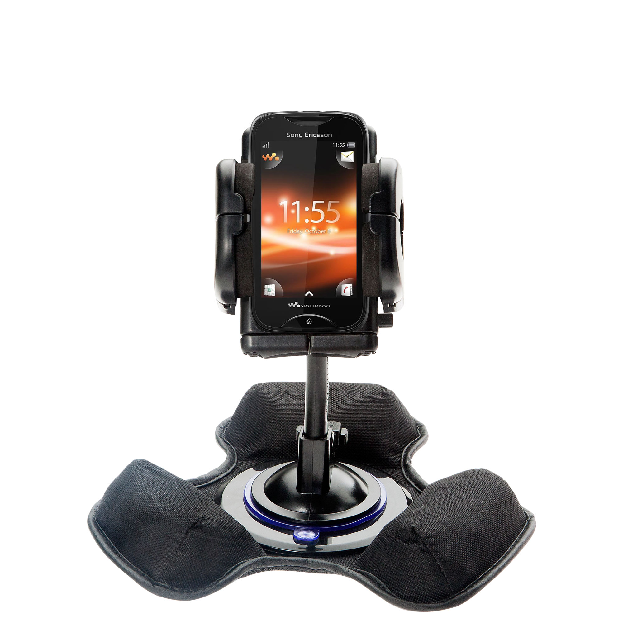 Car / Truck Vehicle Holder Mounting System for Sony Ericsson LT15i Includes Unique Flexible Windshield Suction and Universal Dashboard Mount Options