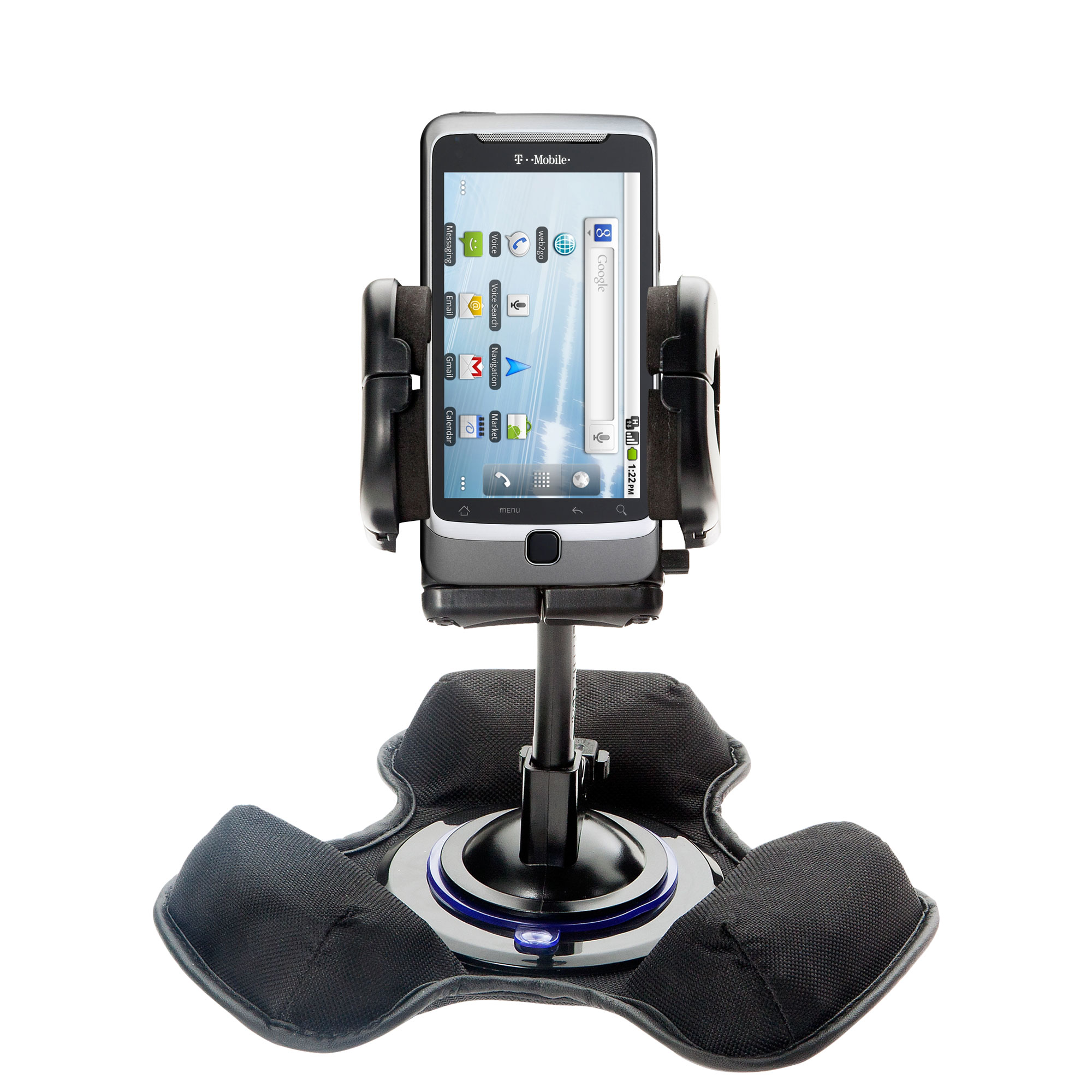 Car / Truck Vehicle Holder Mounting System for T-Mobile G2 Includes Unique Flexible Windshield Suction and Universal Dashboard Mount Options