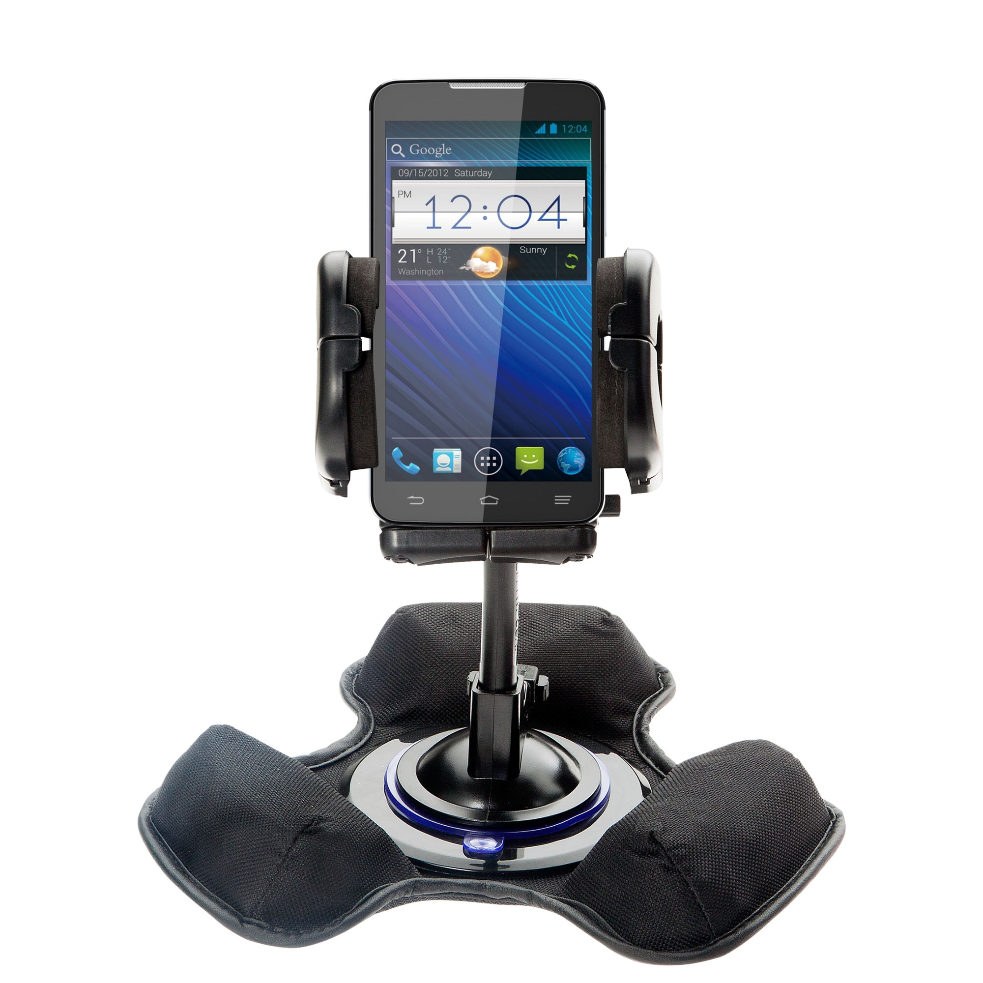 Car / Truck Vehicle Holder Mounting System for ZTE Awe Includes Unique Flexible Windshield Suction and Universal Dashboard Mount Options