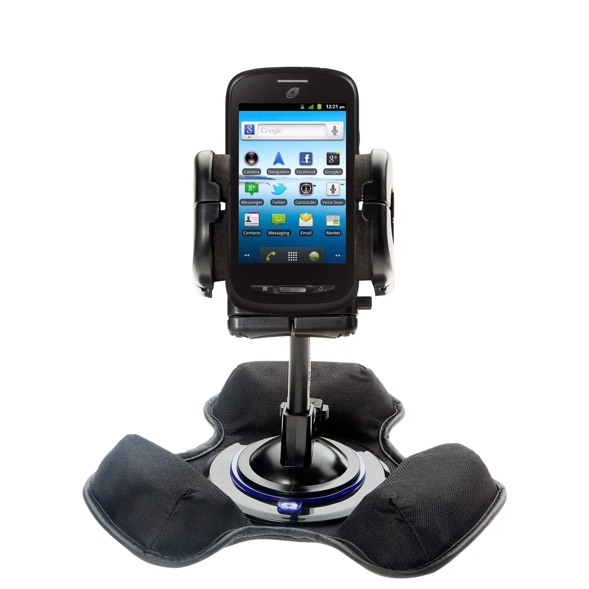Car / Truck Vehicle Holder Mounting System for ZTE Merit Z990G Includes Unique Flexible Windshield Suction and Universal Dashboard Mount Options