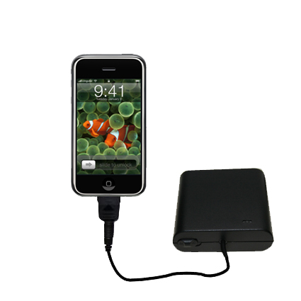 Portable Emergency AA Battery Charger Extender suitable for the Apple iPhone - with Gomadic Brand TipExchange Technology