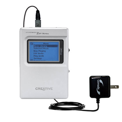 Wall Charger compatible with the Creative Jukebox Zen NX