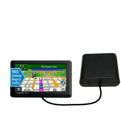 Portable Emergency AA Battery Charger Extender suitable for the Garmin nuvi 1490LMT 1490T - with Gomadic Brand TipExchange Technology