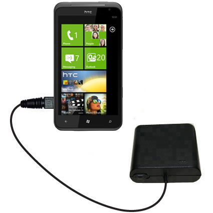 AA Battery Pack Charger compatible with the HTC Titan