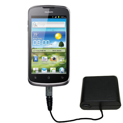 Portable Emergency AA Battery Charger Extender suitable for the Huawei U8815 - with Gomadic Brand TipExchange Technology
