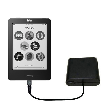 AA Battery Pack Charger compatible with the Kobo eReader Touch