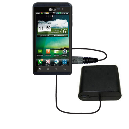 Portable Emergency AA Battery Charger Extender suitable for the LG Thrill 4G - with Gomadic Brand TipExchange Technology