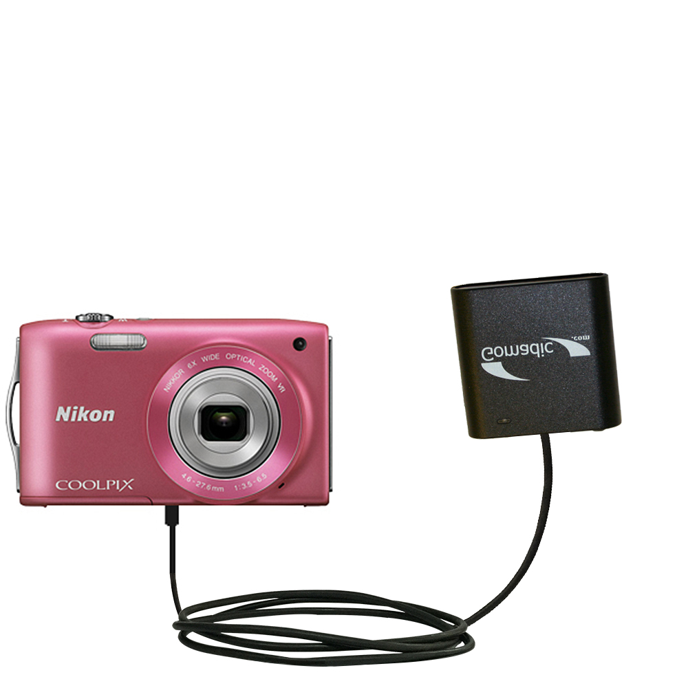 AA Battery Pack Charger compatible with the Nikon Coolpix S3200 / S3300