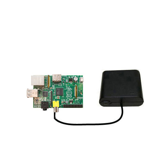 Portable Emergency AA Battery Charger Extender suitable for the Raspberry Pi Board - with Gomadic Brand TipExchange Technology