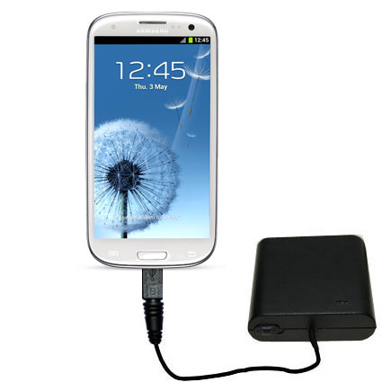 Portable Emergency AA Battery Charger Extender suitable for the Samsung Galaxy S III - with Gomadic Brand TipExchange Technology