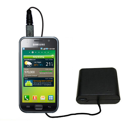Portable Emergency AA Battery Charger Extender suitable for the Samsung Galaxy S - with Gomadic Brand TipExchange Technology