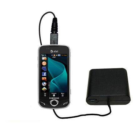 Portable Emergency AA Battery Charger Extender suitable for the Samsung Mythic - with Gomadic Brand TipExchange Technology