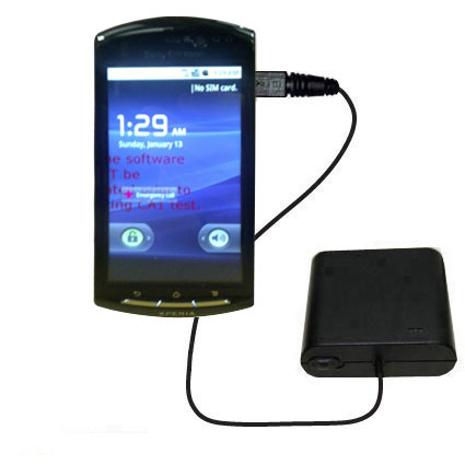 AA Battery Pack Charger compatible with the Sony Ericsson LT15i