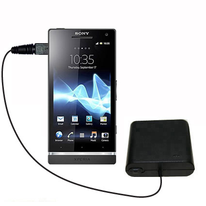 Portable Emergency AA Battery Charger Extender suitable for the Sony Ericsson Xperia S - with Gomadic Brand TipExchange Technology