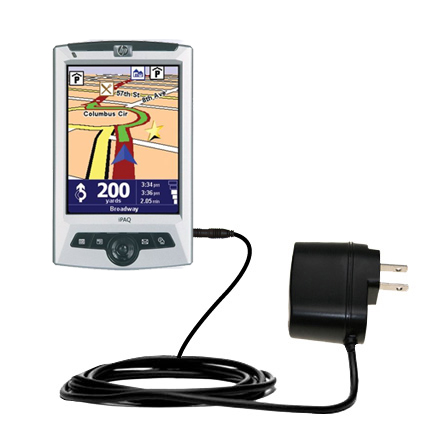 Gomadic Intelligent Compact AC Home Wall Charger suitable for the TomTom Navigator 5 - High output power with a convenient; foldable plug design - Uses TipExchange Technology