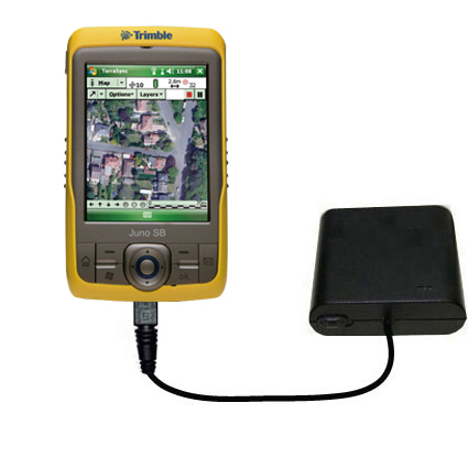 Portable Emergency AA Battery Charger Extender suitable for the Trimble Juno SB - with Gomadic Brand TipExchange Technology