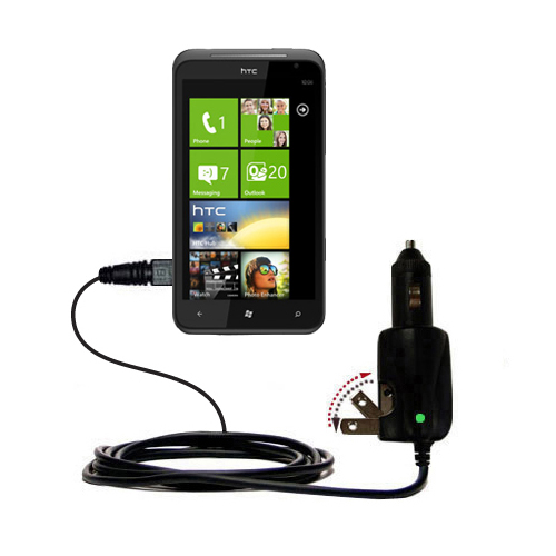 Car & Home 2 in 1 Charger compatible with the HTC Titan