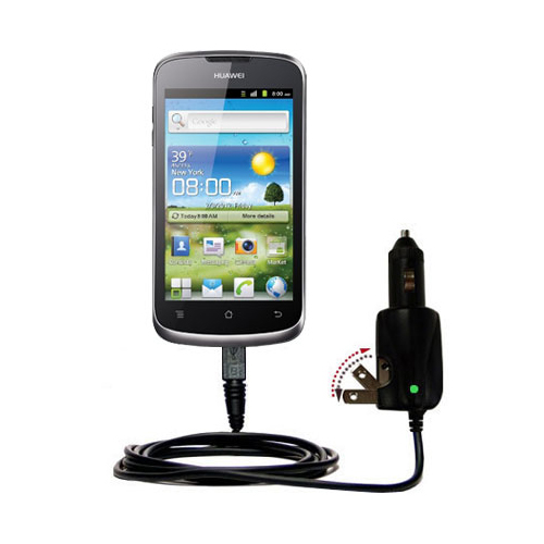 Intelligent Dual Purpose DC Vehicle and AC Home Wall Charger suitable for the Huawei U8815 - Two critical functions; one unique charger - Uses Gomadic Brand TipExchange Technology