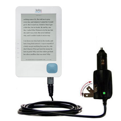 Intelligent Dual Purpose DC Vehicle and AC Home Wall Charger suitable for the Kobo eReader - Two critical functions; one unique charger - Uses Gomadic Brand TipExchange Technology