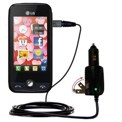 Intelligent Dual Purpose DC Vehicle and AC Home Wall Charger suitable for the LG Cookie Fresh (GS290) - Two critical functions; one unique charger - Uses Gomadic Brand TipExchange Technology